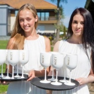 2013 Moet White Party tervitusjoogineiud.